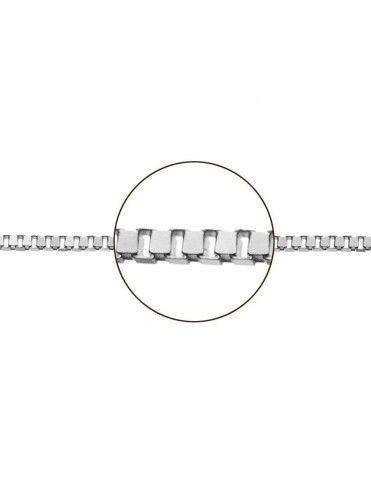 Cadena Oro blanco Veneciana 45 cm 033114040&45