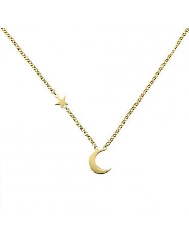 Collar Oro Amarillo Estrella Luna 3A8307300B