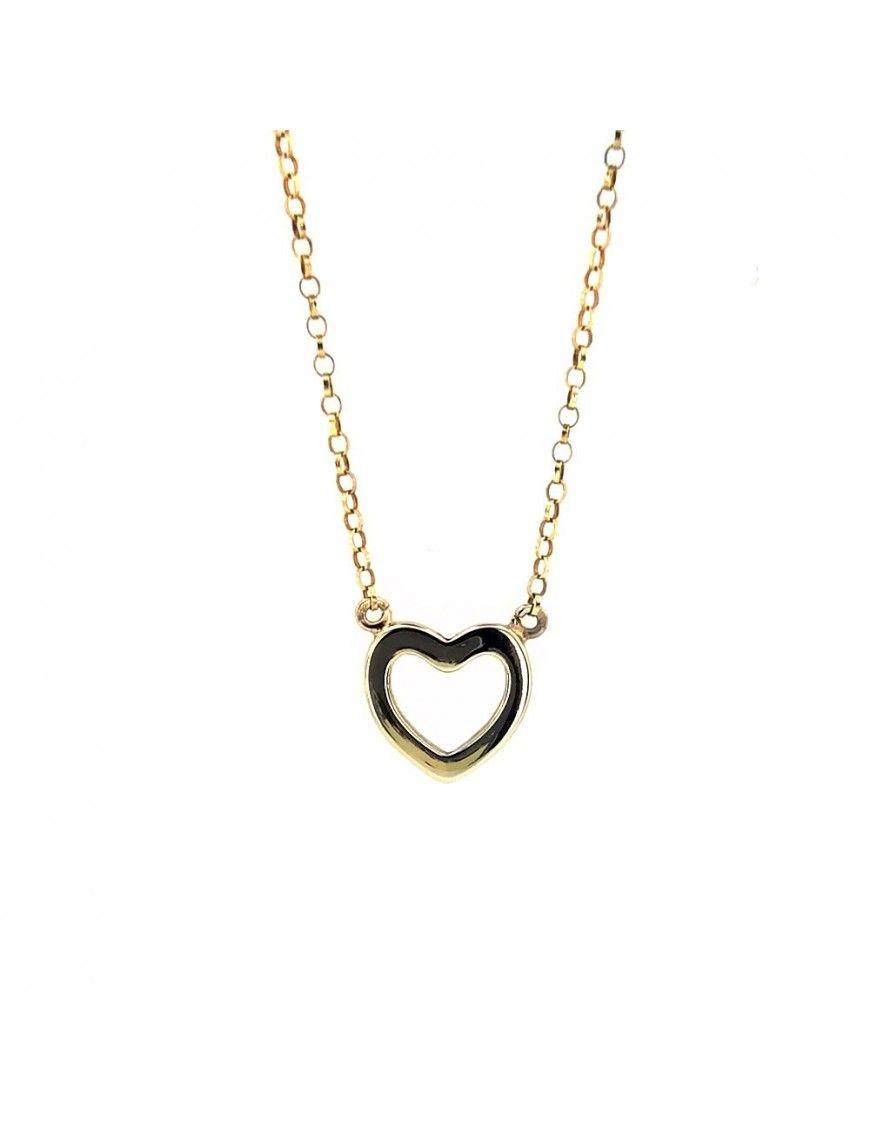 Collar Plata corazón 44 cm. mujer 024241-2-1