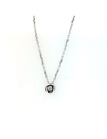 Comprar Collar Oro blanco 18Kts Chatón mujer GA60844 online