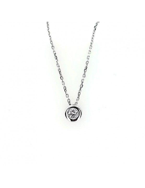 Collar Oro blanco 18Kts Chatón mujer GA60848