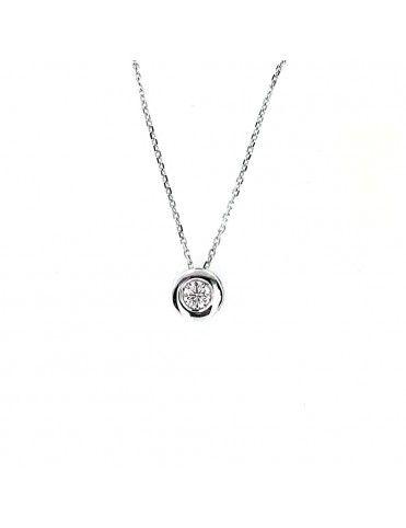 Comprar Collar Oro blanco 18Kts Chatón mujer GA60850 online