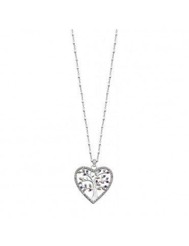 Collar Lotus Silver Mujer Heart LP1894-1/1