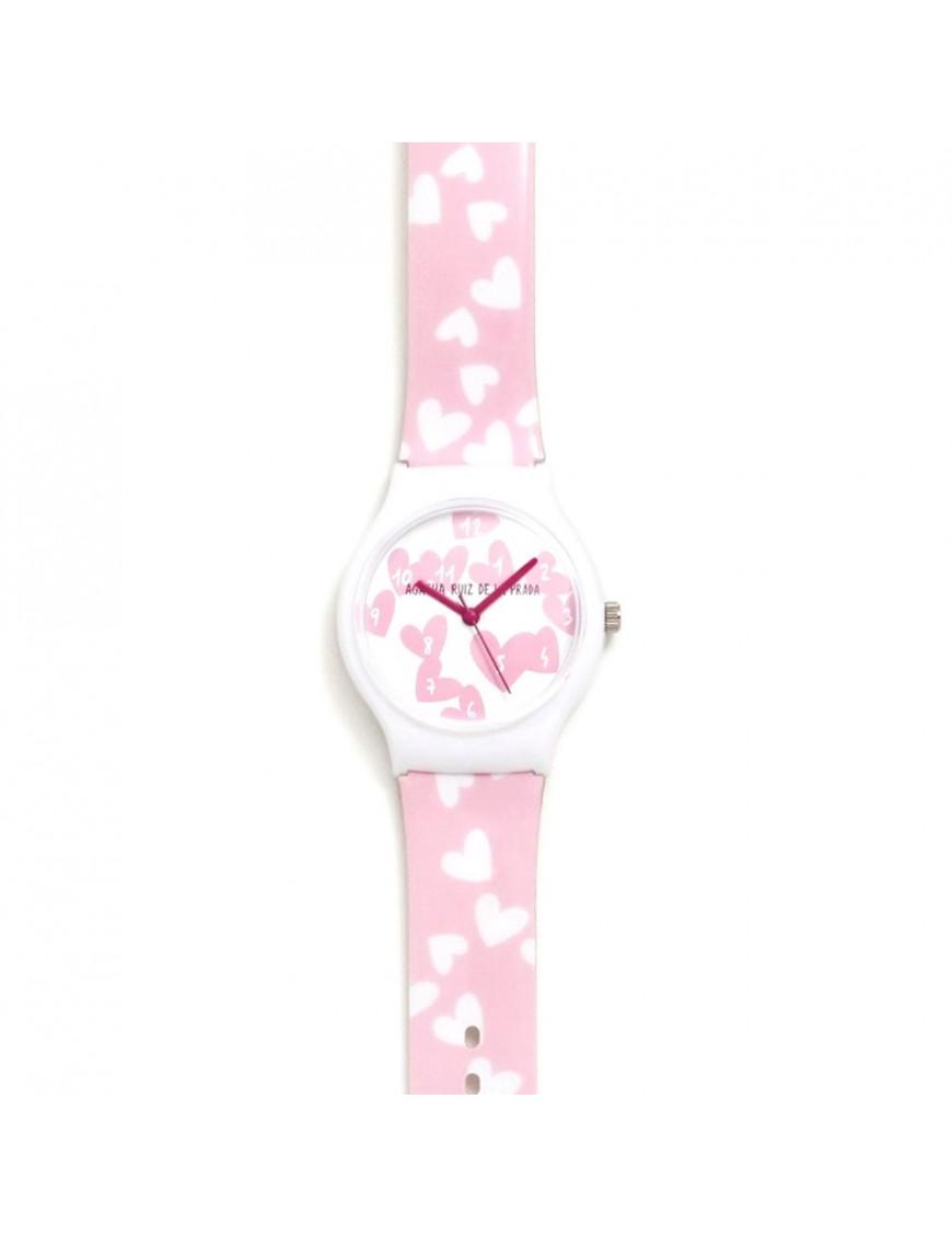 Reloj Agatha Niña Rosa Corazones AGR233