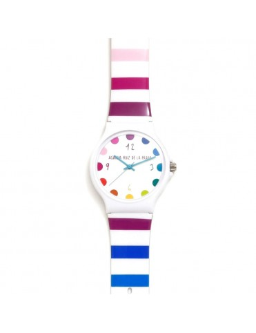 Reloj Agatha Niña Rayas Grande AGR242