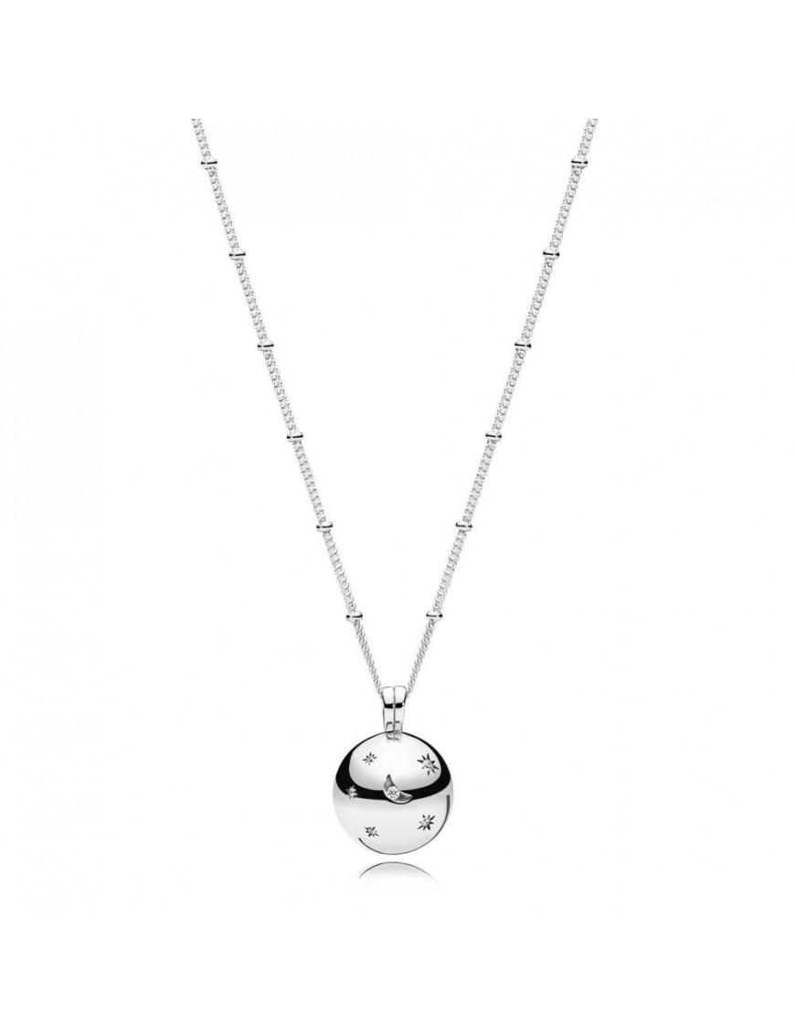 Collar Pandora Plata luna y Estrella 397537CZ-60