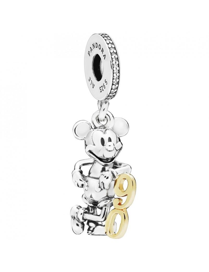 Charm Pandora plata oro Colgante Disney 90 aniversario de Mickey 797497CZ