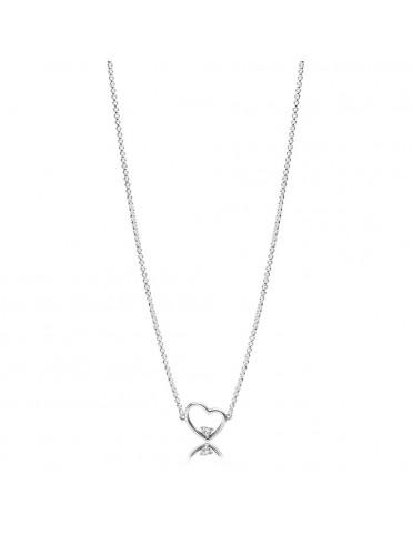 Comprar Collar Pandora Plata Amor Asimétrico 397797CZ-45 online