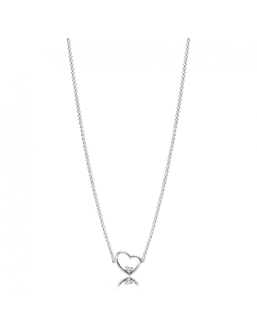 Collar Pandora Plata Amor Asimétrico 397797CZ-45