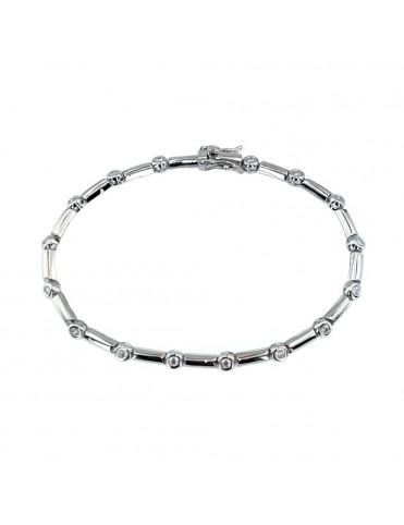 Comprar Pulsera plata Circonitas BL9099 online