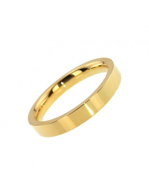 Anillo Alianza MRJY Acero mujer HR-20715&GOLD