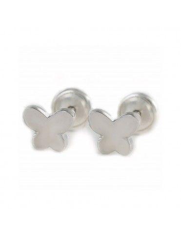 Pendientes Plata bebe Mariposa 9104356