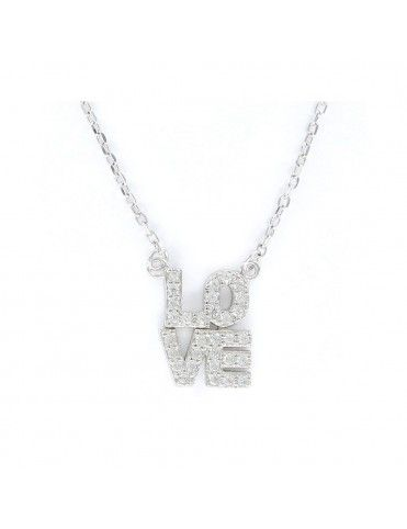 Comprar Collar Plata Mujer love circonitas 9105665 online