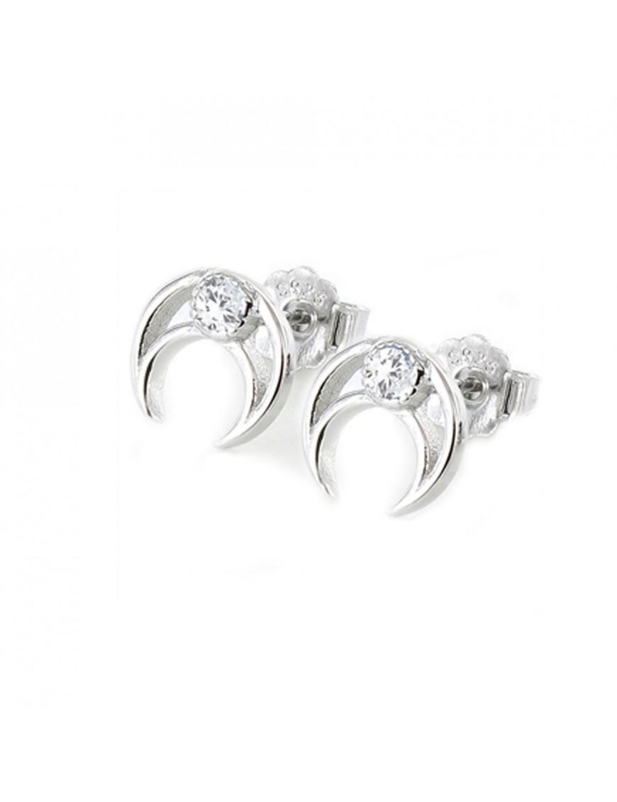 Pendientes Plata Mujer Luna invertida 9105610