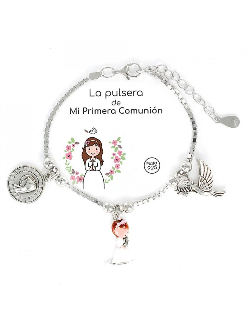 Pulsera plata niña comunión 9105912