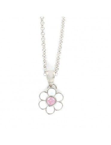 Collar Plata Niña flor circonita 9105985