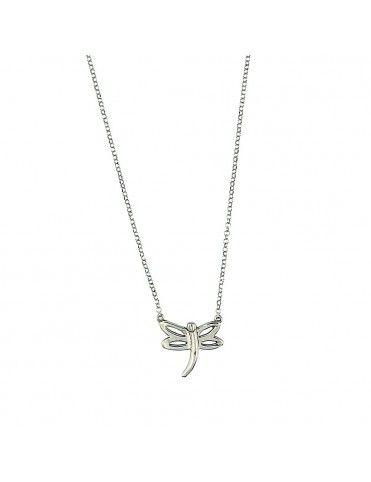 Collar Plata libélula niña 026013-1-1