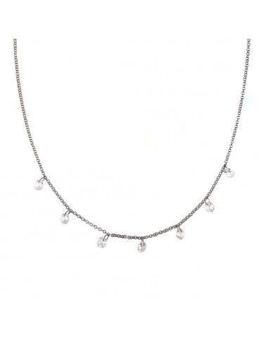 Collar Plata circonitas colgantes niña 026431-1-1-1