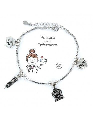 Pulsera plata Mujer Enfermera 9101766