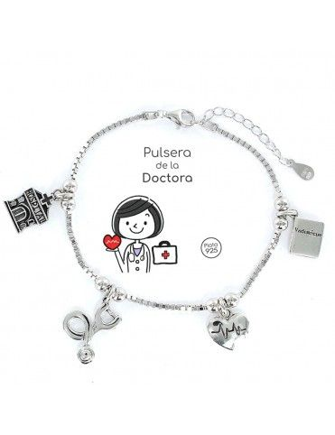 Pulsera plata Mujer Doctora 9103047