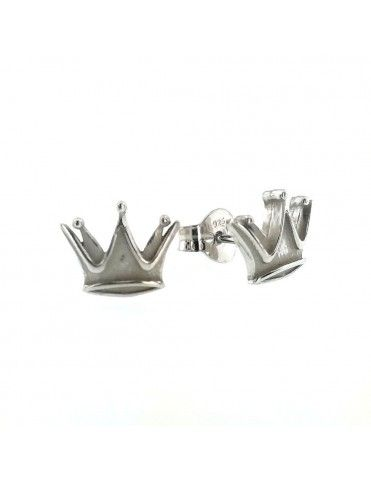 Pendientes plata mujer corona 015588-1-1