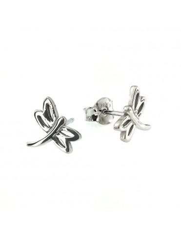 Pendientes plata mujer libélula 016013-1-1