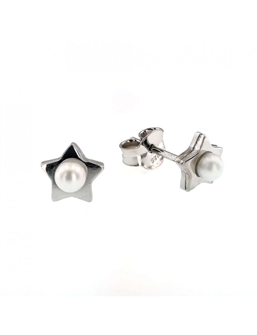 Pendientes Plata mujer estrella con perla 016646-1-1-sin-anill