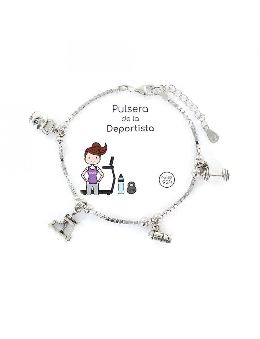 Pulsera plata Mujer Deportista 9105695