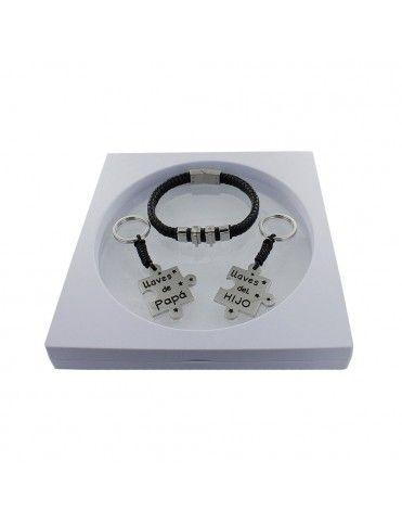 Comprar Pack pulsera de cuero + 2 llaveros puzzle padre e hijo 9106575 online