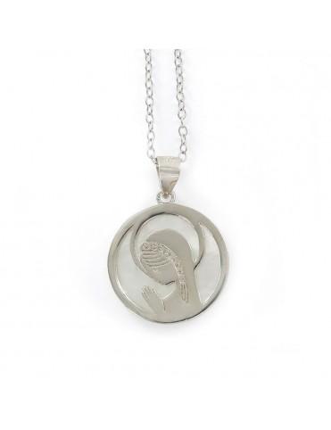 Comprar Collar Plata Virgen Niña nacar 9106202 online