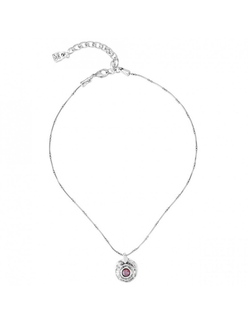 Collar Uno de 50 plata Mujer Tláloc COL1336ROJMTL0U