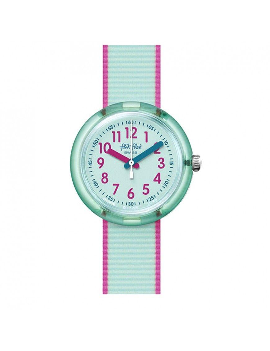 Reloj Flik Flak Color Blast verde azulado FPNP046