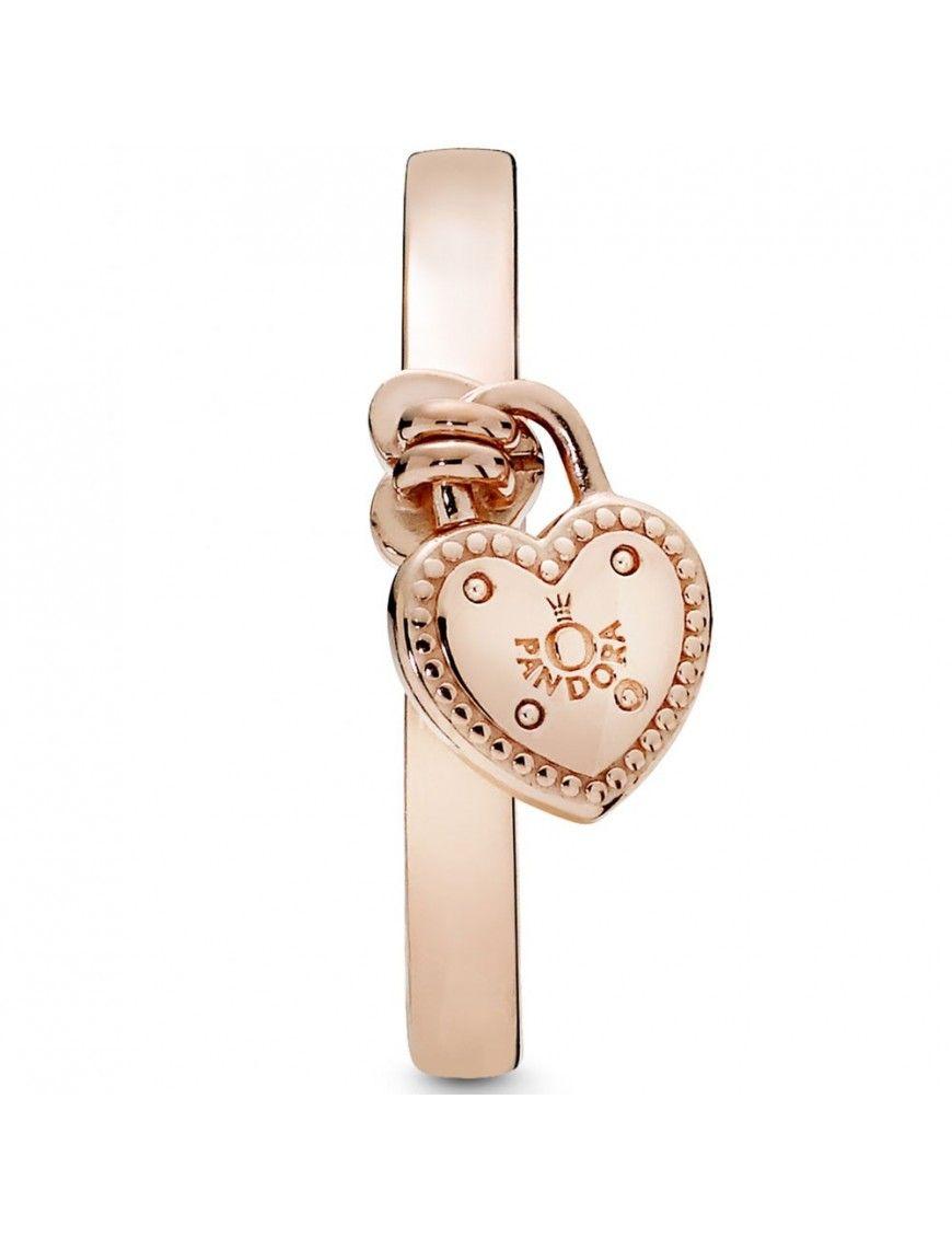 Anillo Pandora Plata Rose Candado de Amor 186571-54