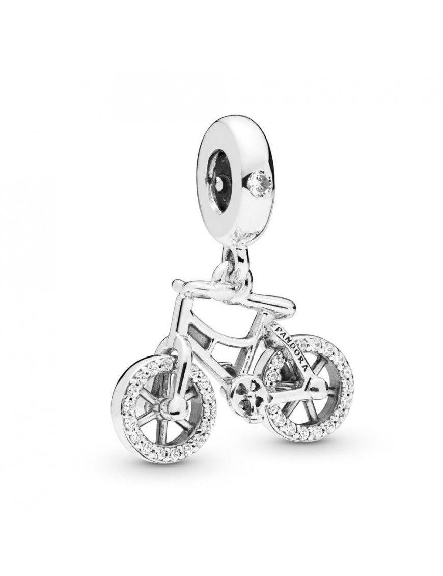 Charm Pandora bicicleta en plata 797858CZ