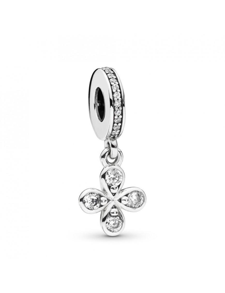 Charm Pandora colgante plata Trébol de cuatro pétalos 797969CZ