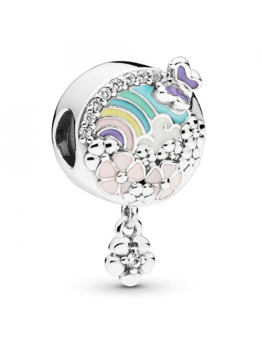 Charm Pandora plata Historia Flores Coloridas 797999ENMX