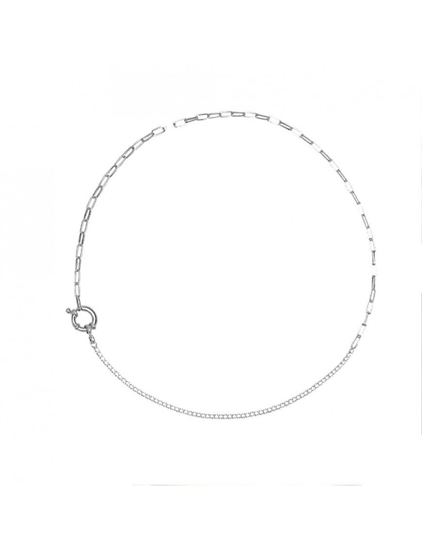Collar PDPAOLA Plata mujer CO02-082-U