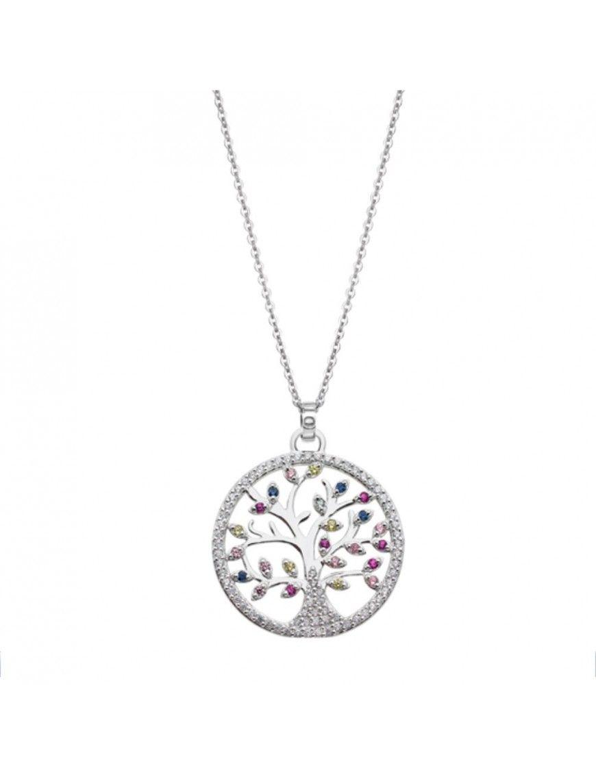 Collar Lotus Silver Mujer Trendy LP1870-1/1