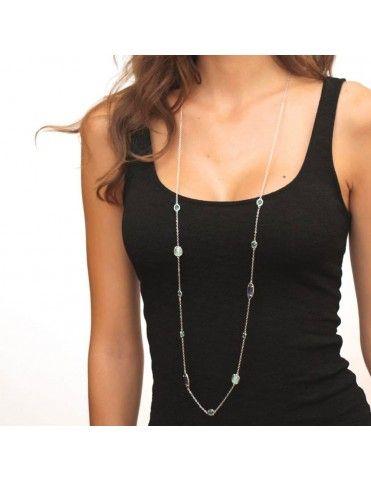 Collar Anartxy Acero Mujer COA530AZU