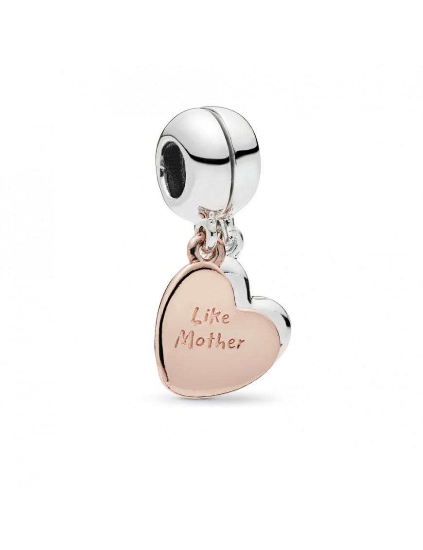Charm Pandora colgante Amor de Madre e Hija plata Rose 787783EN16