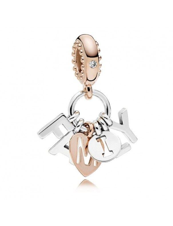 Charm colgante Pandora plata Rose Familia Perfecta 787785CZ