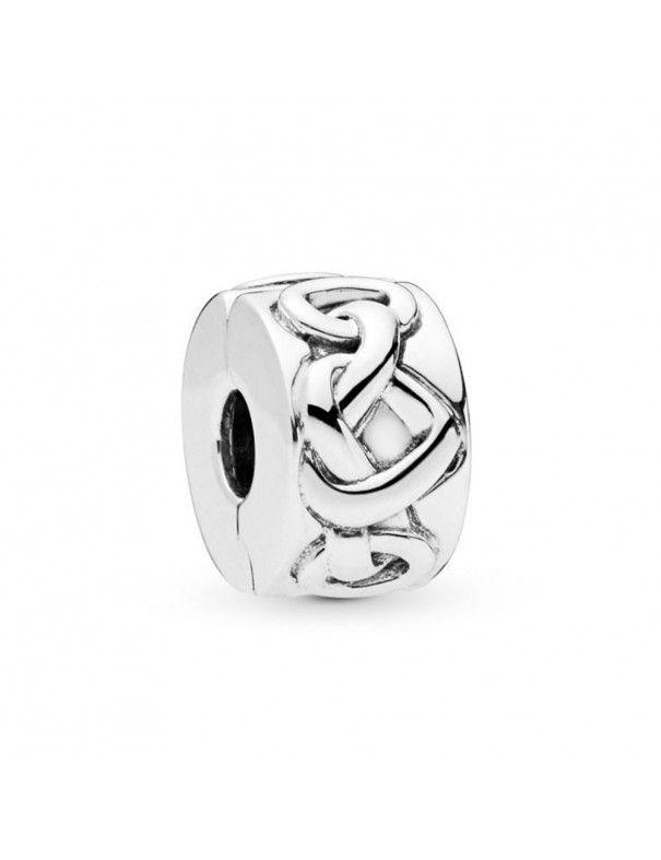 Charm Clip Pandora plata corazones anudados 798035