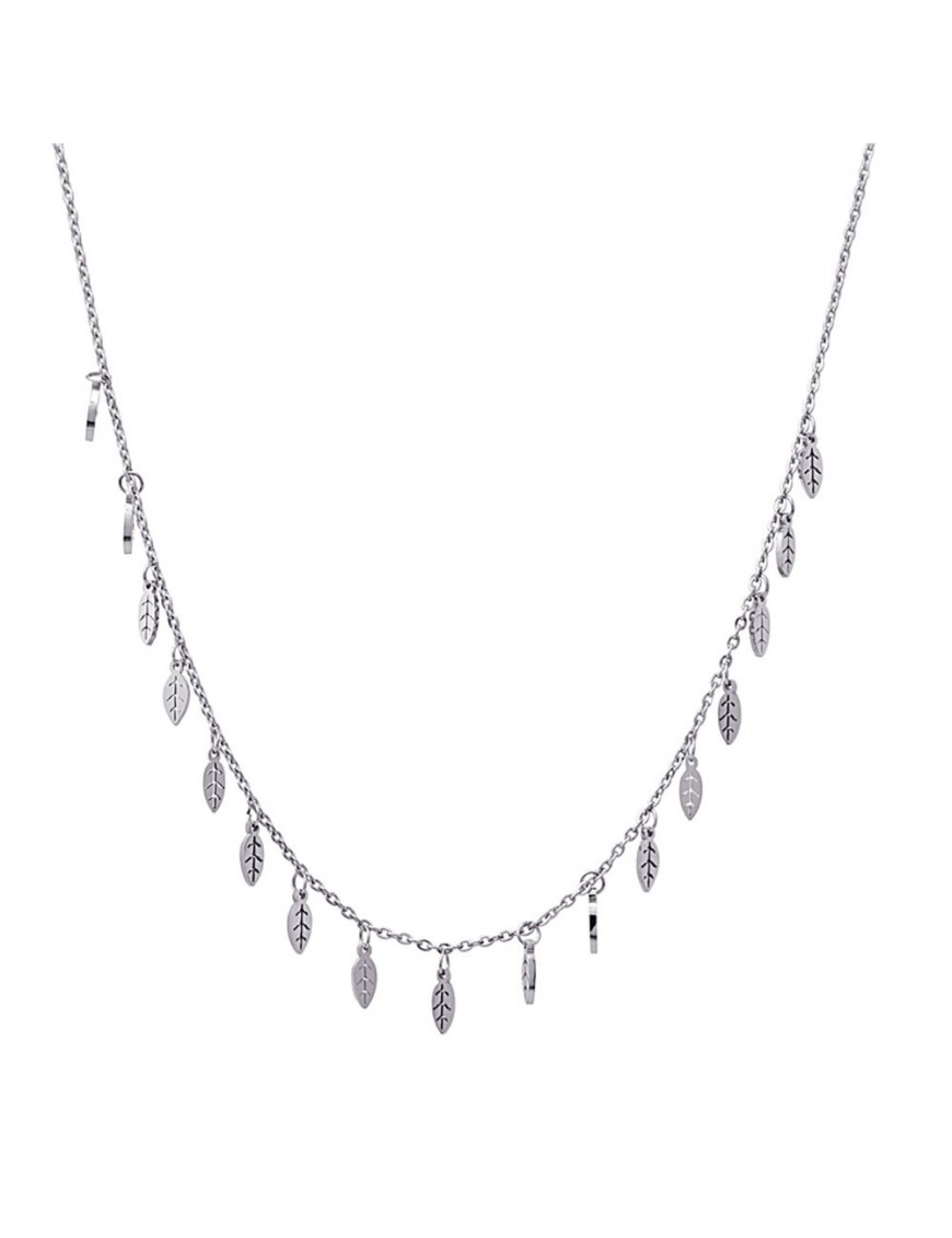 Collar Anartxy Acero Mujer Charms Hojas COA622
