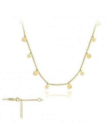 Collar Plata Mujer Círculos y estrellas 174434
