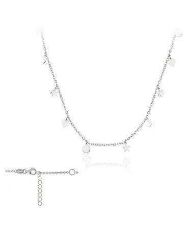 Collar Plata Mujer Estrellas, Círculos y luna 174435