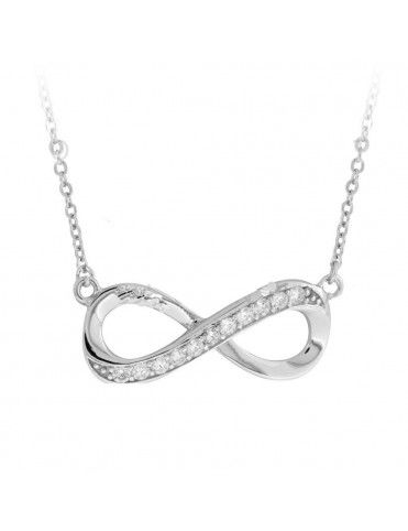 Collar Plata Mujer infinito 171025