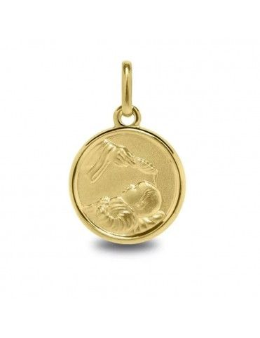 Medalla Oro amarillo de 18 quilates 1260468 Bautismo