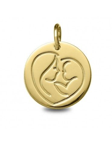 Medalla Oro amarillo de 18k 1962014 Mamá con bebé