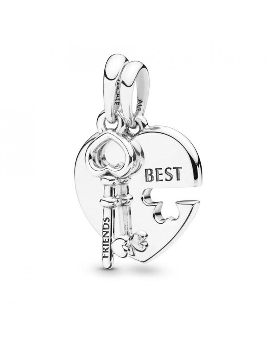 Charm Pandora colgante plata Best Friends Heart 398130