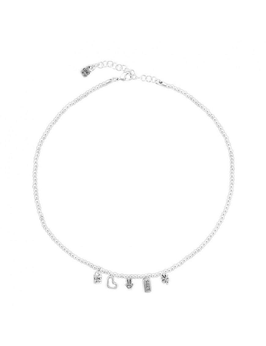 Collar Uno de 50 Metal Mujer I`m waiting 4 U COL1407MTL0000U